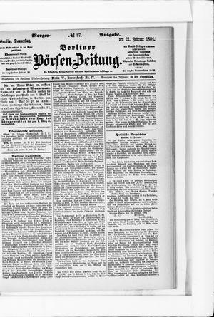 Berliner Börsen-Zeitung vom 21.02.1884