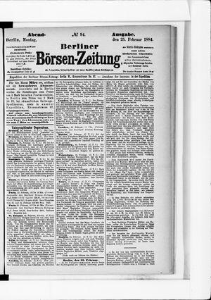 Berliner Börsen-Zeitung vom 25.02.1884