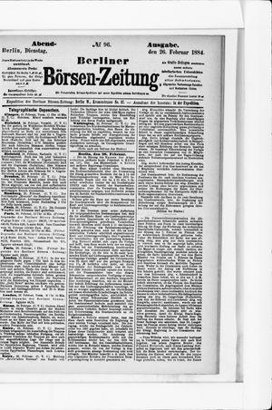 Berliner Börsen-Zeitung vom 26.02.1884