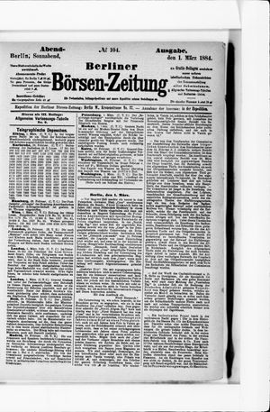 Berliner Börsen-Zeitung vom 01.03.1884