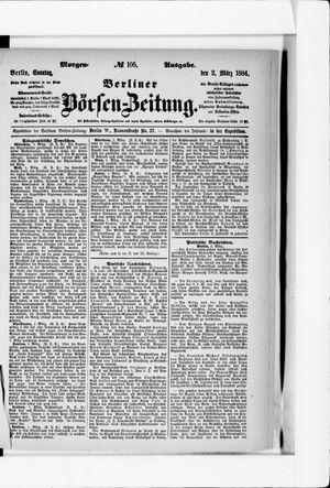 Berliner Börsen-Zeitung vom 02.03.1884