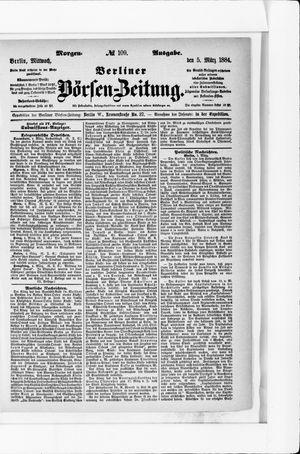 Berliner Börsen-Zeitung vom 05.03.1884