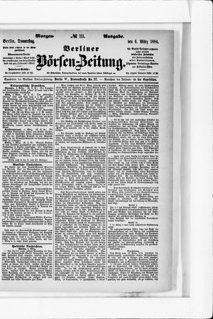 Berliner Börsen-Zeitung vom 06.03.1884