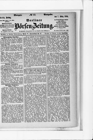 Berliner Börsen-Zeitung vom 07.03.1884