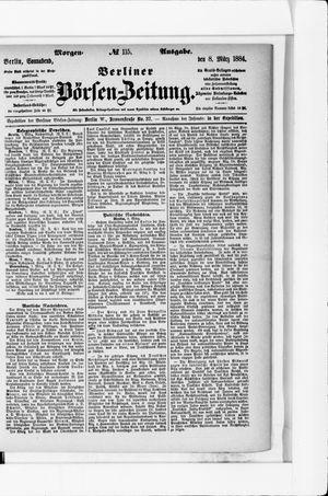 Berliner Börsen-Zeitung vom 08.03.1884