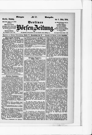 Berliner Börsen-Zeitung vom 09.03.1884