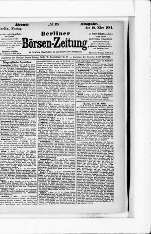 Berliner Börsen-Zeitung vom 10.03.1884