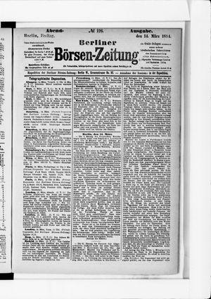 Berliner Börsen-Zeitung vom 14.03.1884