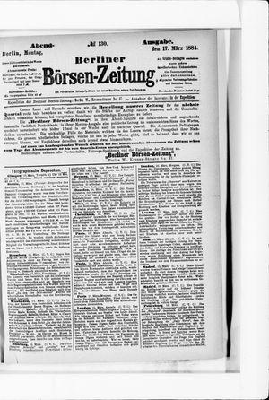 Berliner Börsen-Zeitung vom 17.03.1884
