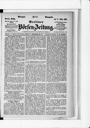 Berliner Börsen-Zeitung vom 21.03.1884