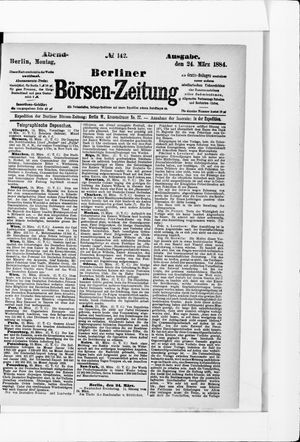 Berliner Börsen-Zeitung vom 24.03.1884