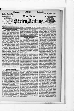 Berliner Börsen-Zeitung vom 27.03.1884