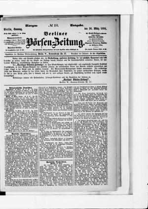 Berliner Börsen-Zeitung vom 30.03.1884