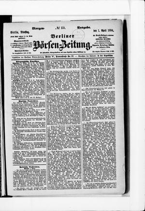 Berliner Börsen-Zeitung vom 01.04.1884