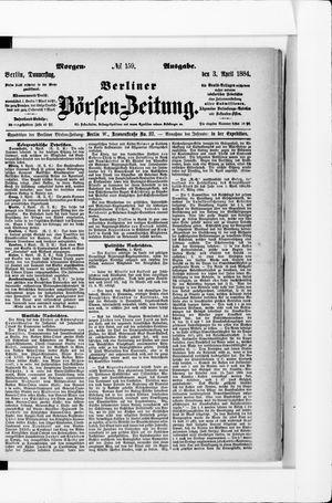 Berliner Börsen-Zeitung vom 03.04.1884
