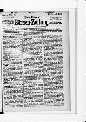 Berliner Börsen-Zeitung vom 09.04.1884
