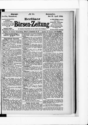 Berliner Börsen-Zeitung vom 12.04.1884