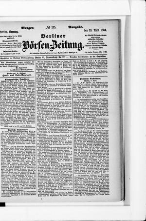 Berliner Börsen-Zeitung vom 13.04.1884