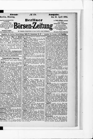 Berliner Börsen-Zeitung vom 15.04.1884
