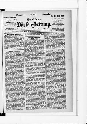 Berliner Börsen-Zeitung vom 17.04.1884