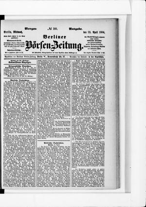 Berliner Börsen-Zeitung vom 23.04.1884