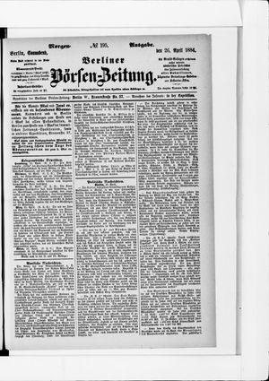 Berliner Börsen-Zeitung vom 26.04.1884