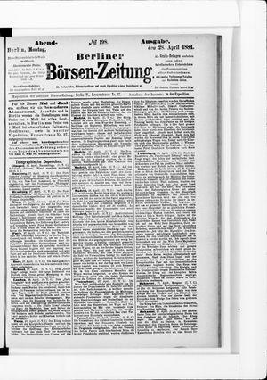 Berliner Börsen-Zeitung vom 28.04.1884