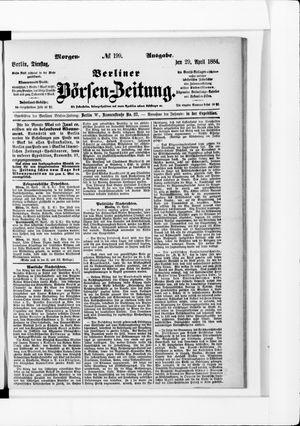 Berliner Börsen-Zeitung vom 29.04.1884