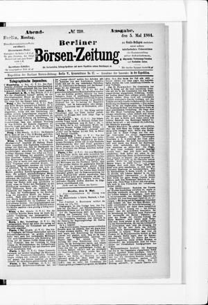 Berliner Börsen-Zeitung vom 05.05.1884
