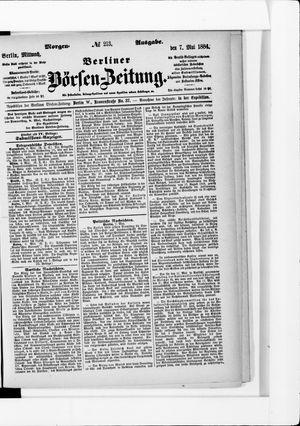 Berliner Börsen-Zeitung vom 07.05.1884