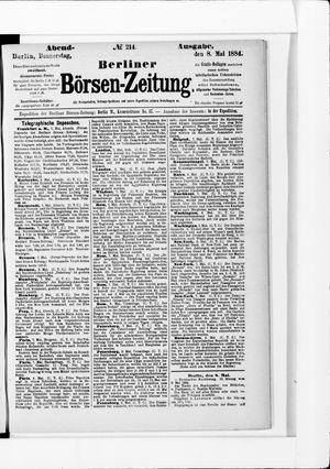 Berliner Börsen-Zeitung vom 08.05.1884