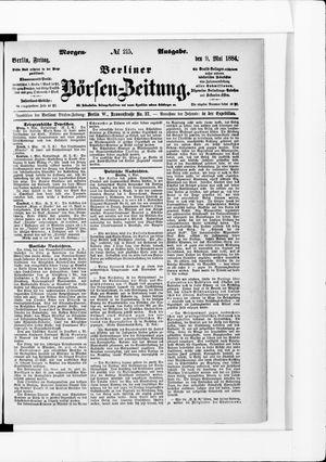 Berliner Börsen-Zeitung vom 09.05.1884