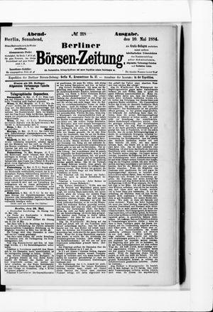 Berliner Börsen-Zeitung vom 10.05.1884
