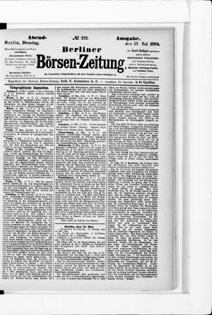 Berliner Börsen-Zeitung vom 13.05.1884