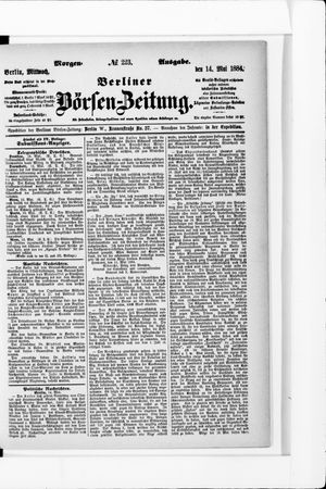 Berliner Börsen-Zeitung vom 14.05.1884