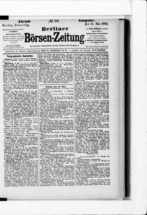 Berliner Börsen-Zeitung vom 15.05.1884