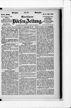 Berliner Börsen-Zeitung vom 16.05.1884