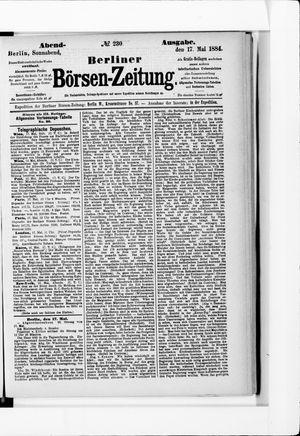 Berliner Börsen-Zeitung vom 17.05.1884