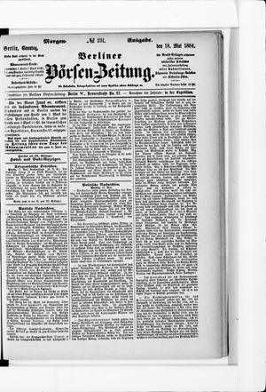 Berliner Börsen-Zeitung on May 18, 1884