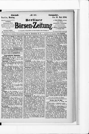 Berliner Börsen-Zeitung vom 19.05.1884