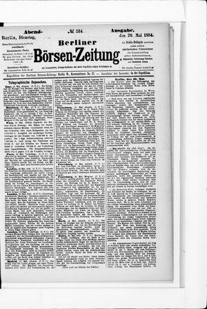 Berliner Börsen-Zeitung on May 20, 1884