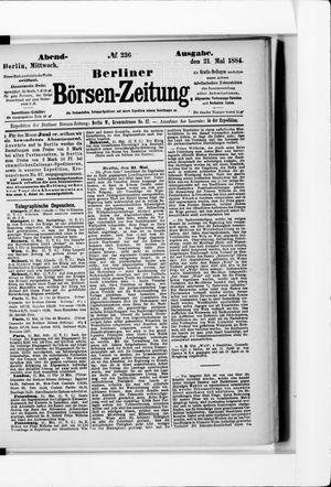 Berliner Börsen-Zeitung vom 21.05.1884