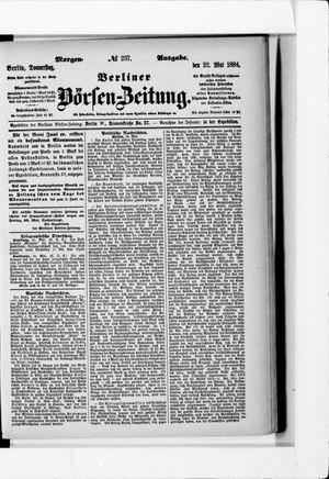 Berliner Börsen-Zeitung vom 22.05.1884