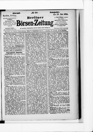 Berliner Börsen-Zeitung vom 23.05.1884