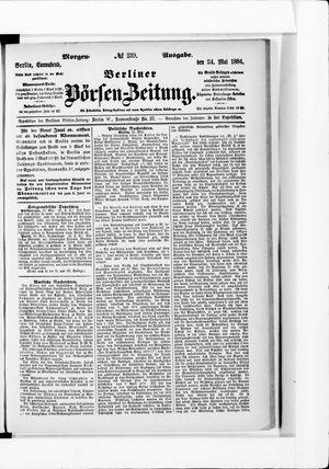 Berliner Börsen-Zeitung vom 24.05.1884