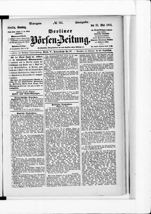 Berliner Börsen-Zeitung vom 25.05.1884