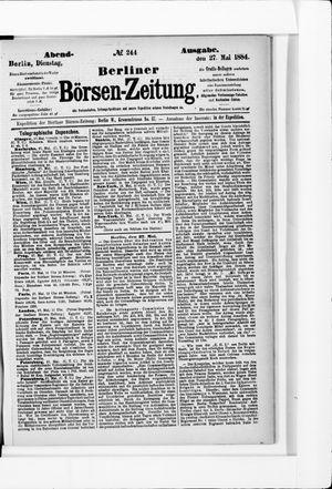 Berliner Börsen-Zeitung vom 27.05.1884