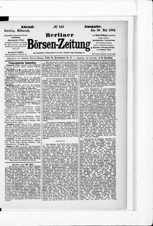 Berliner Börsen-Zeitung vom 28.05.1884