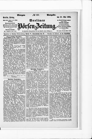Berliner Börsen-Zeitung vom 30.05.1884