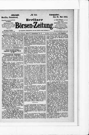 Berliner Börsen-Zeitung vom 31.05.1884